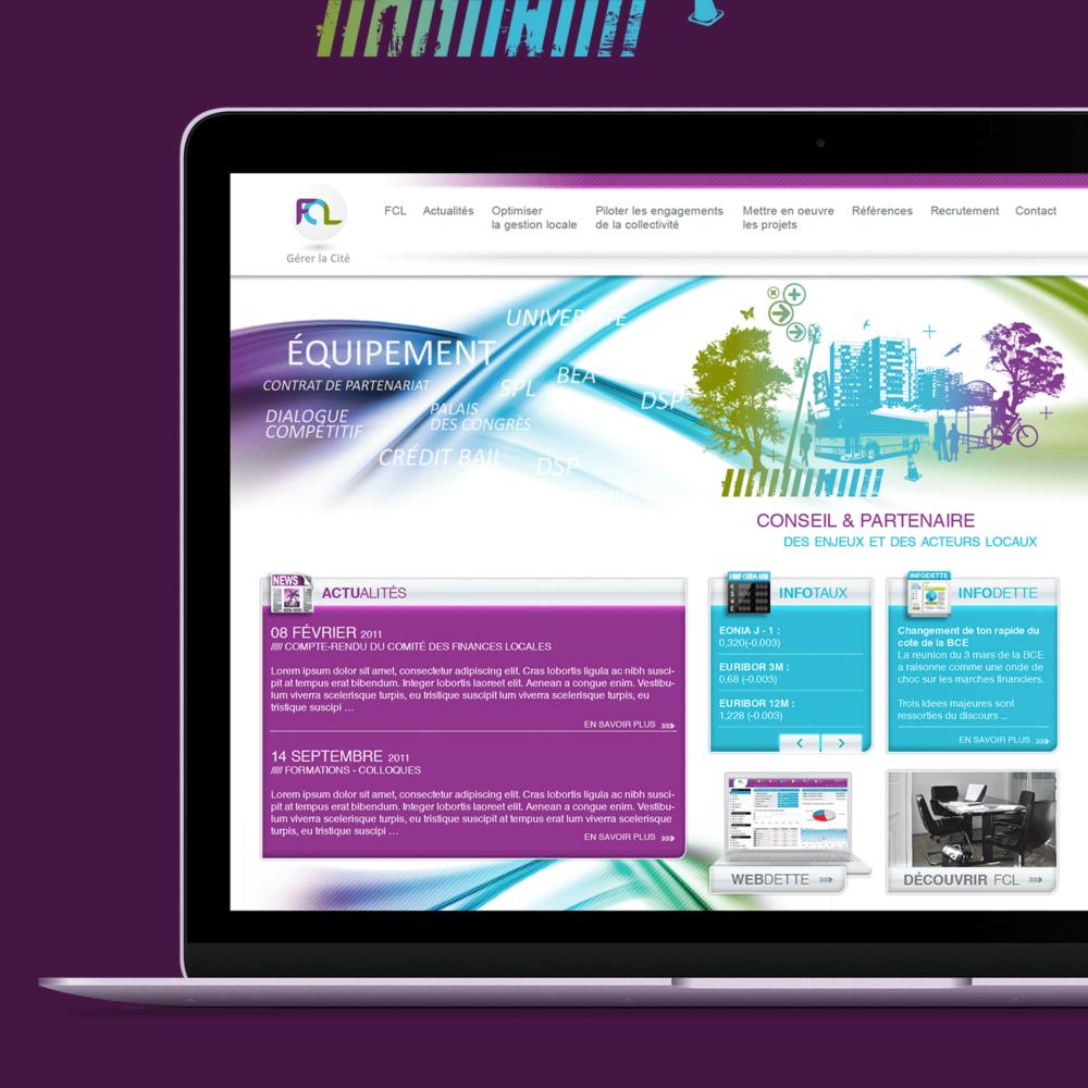 Création du site internet pour FCL - Gérer la cité