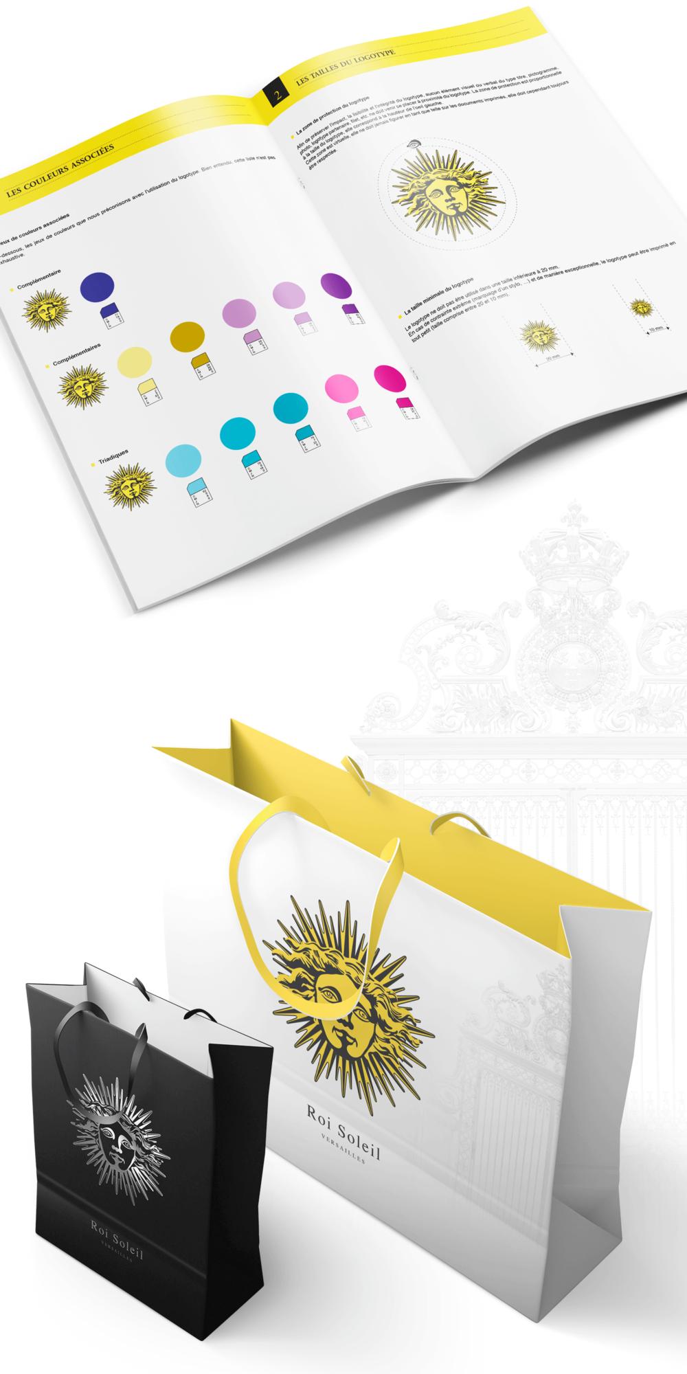 Identité visuelle pour les produits dérivés du Château de Versailles