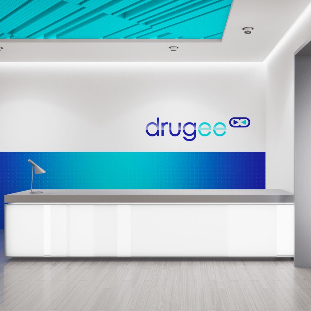 Identité visuelle pour Drugee. Création retenue par Stratégies.