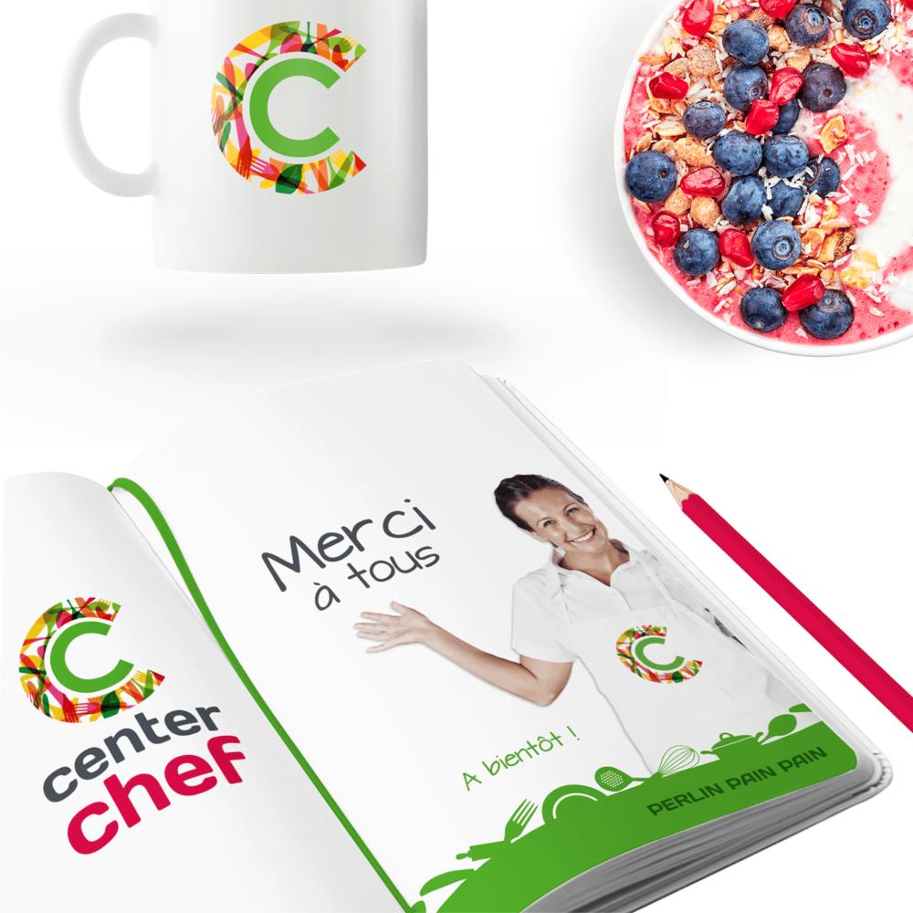 Identité visuelle pour le concours Center Chef via La Poule Kiwi