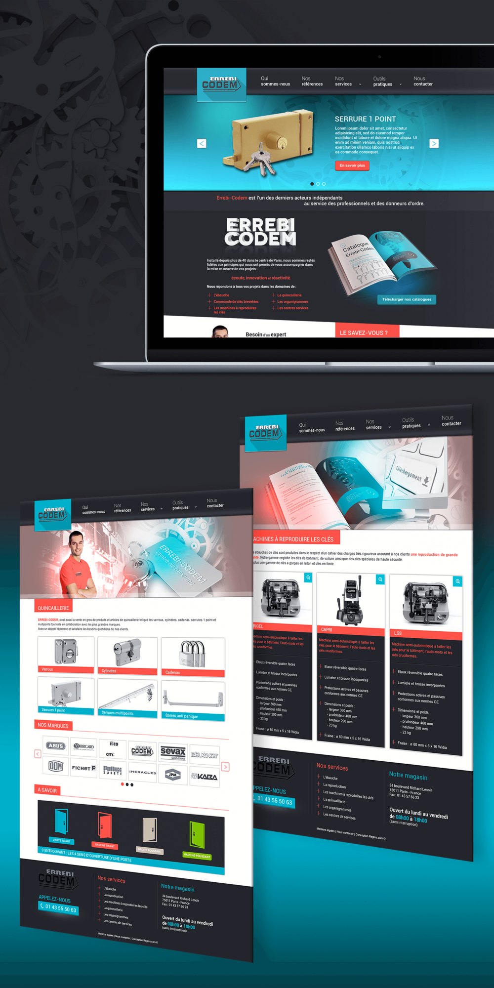 Site internet du fabricant et revendeur de clés brevetées Errebi-Codem