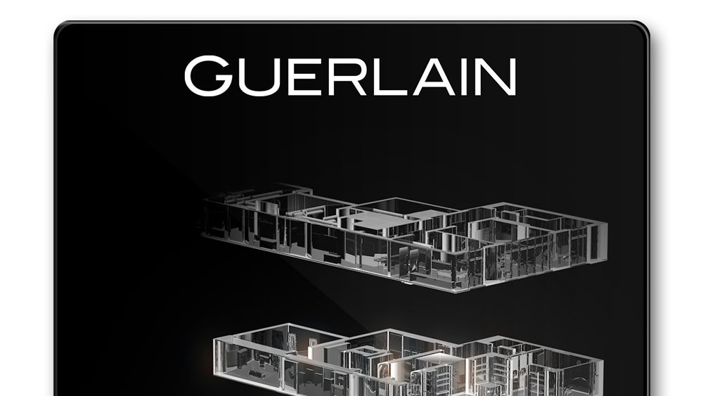 Ecrans digitaux boutique Guerlain - Design par Regliss.com