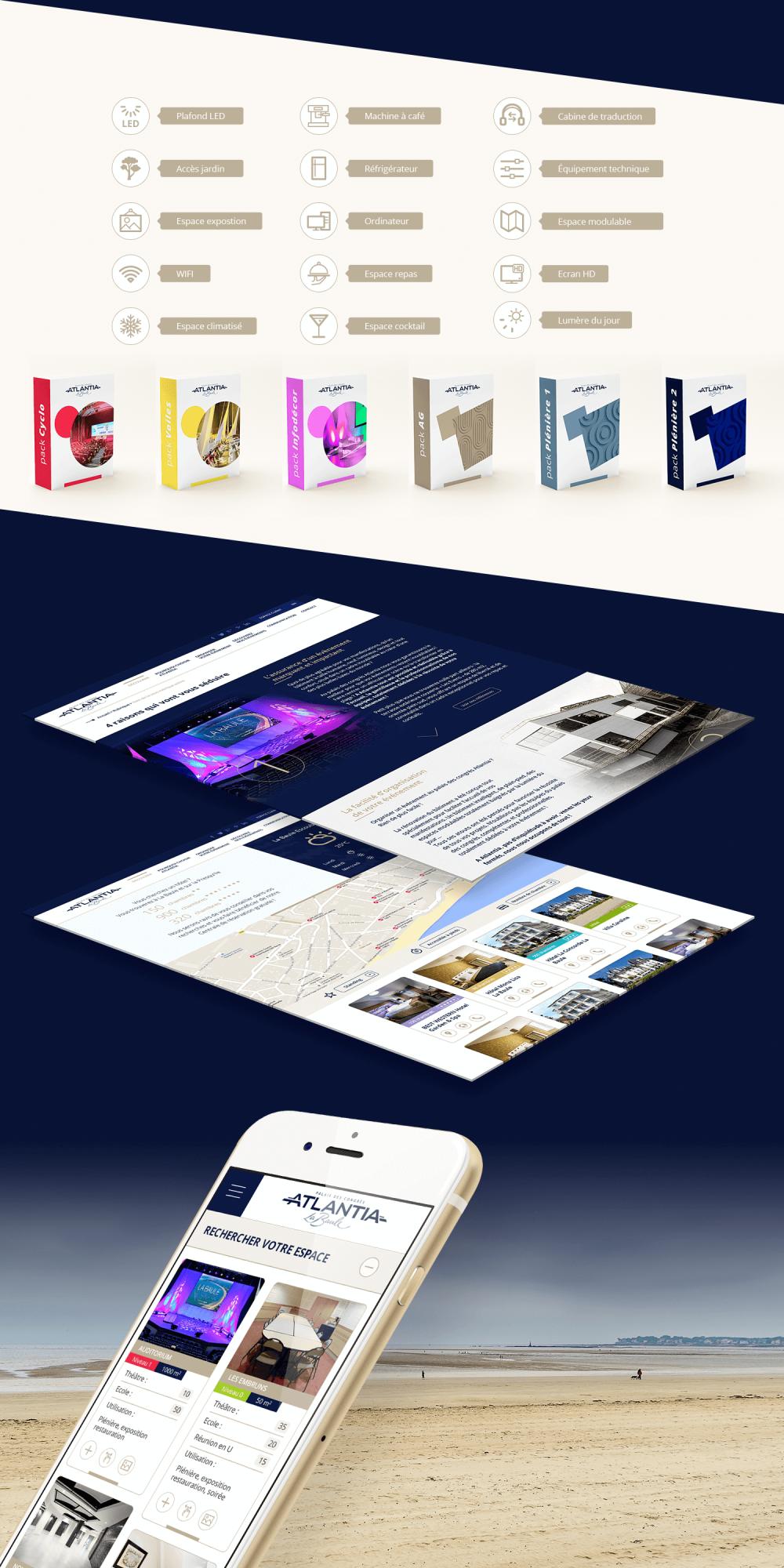 Site internet du Palais des Congrès Atlantia - La Baule
