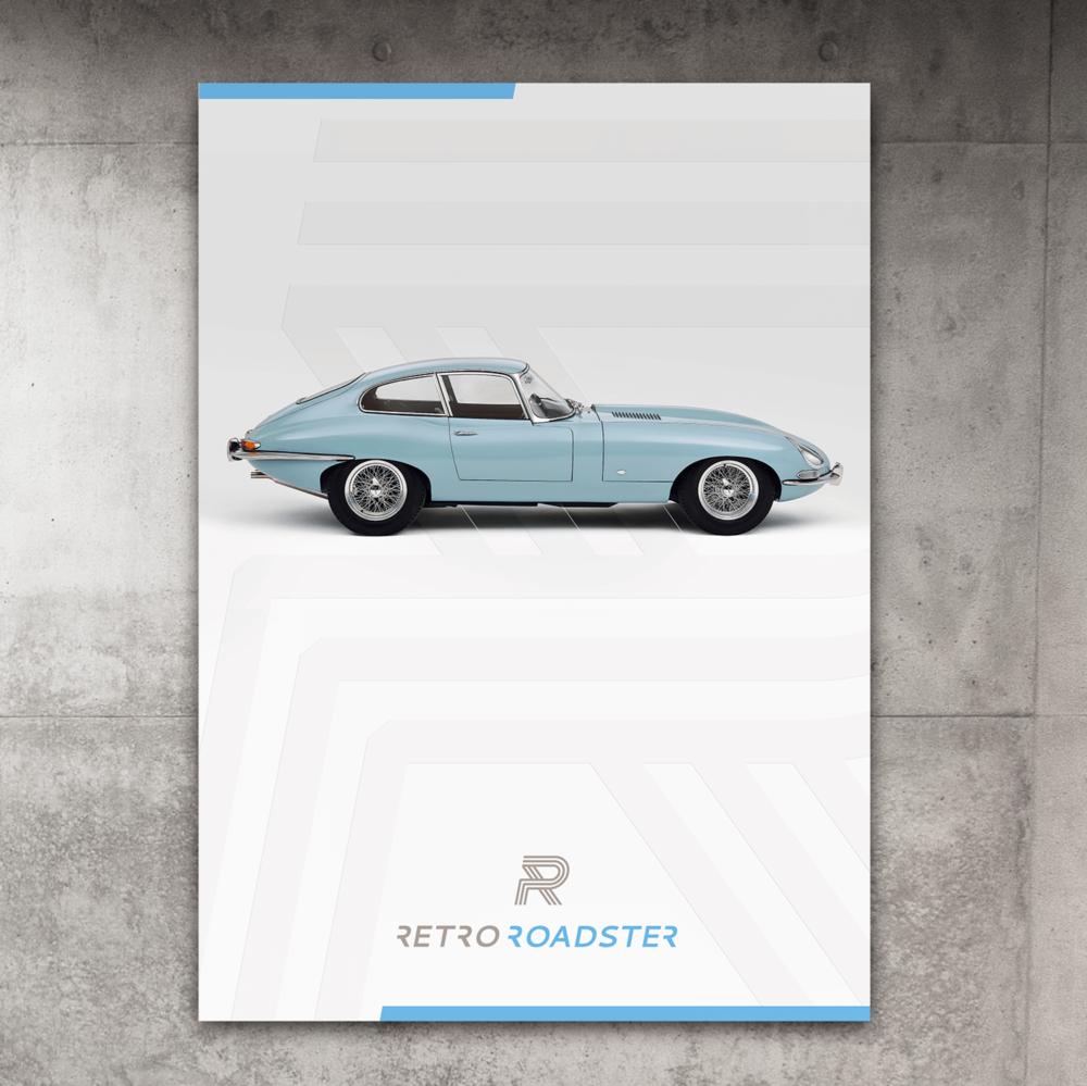 Identité visuelle pour Retro Roadster, un restaurateur de voitures de collection