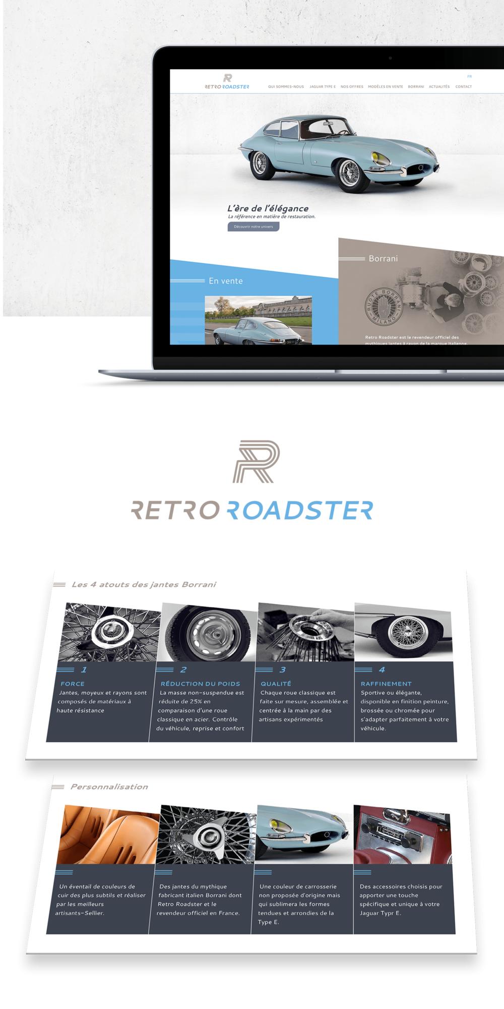 Création du site internet pour Retro Roadster, restaurateur de voitures de collection