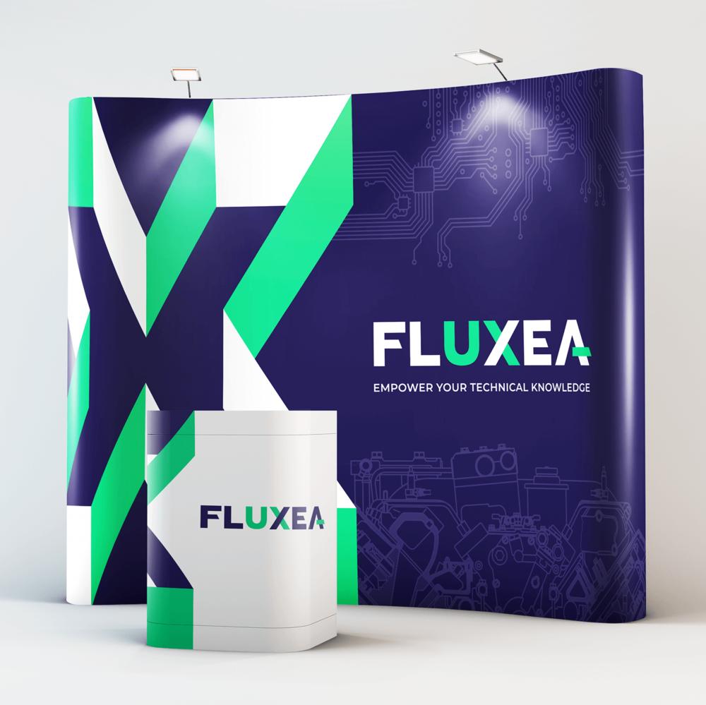 Définition du positionnement, naming et création du territoire de marque pour Fluxea