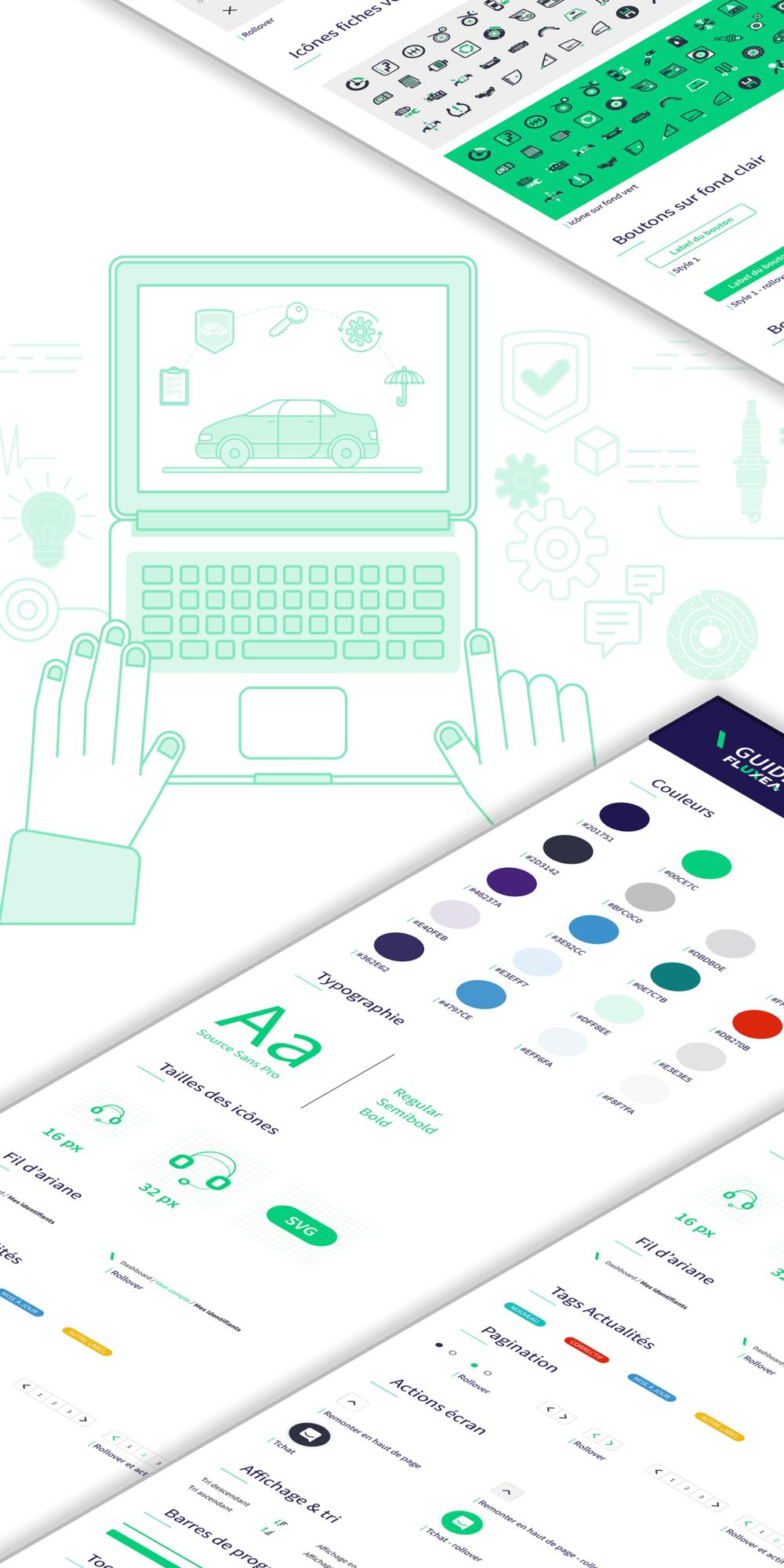 Design (UX et UI) et intération HTML de l