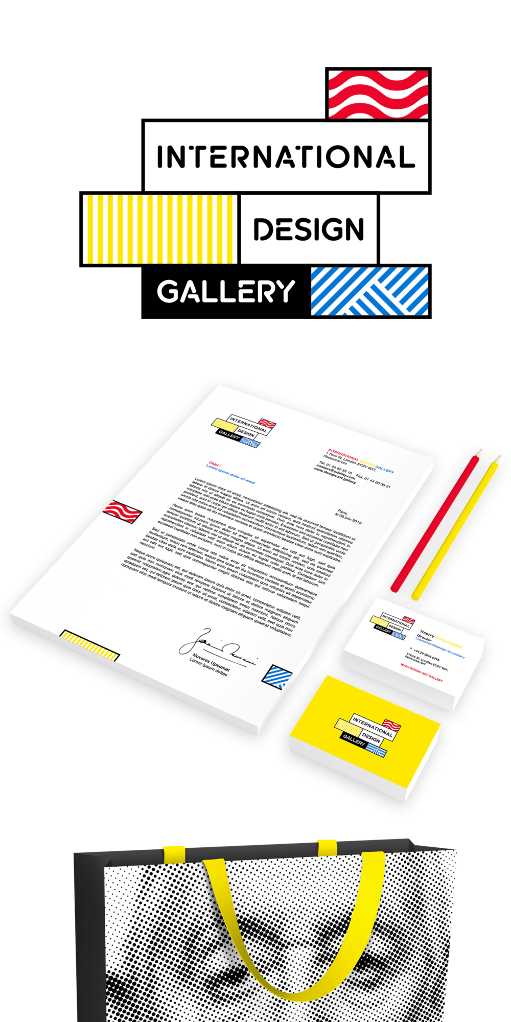 Identité visuelle de International Design Gallery