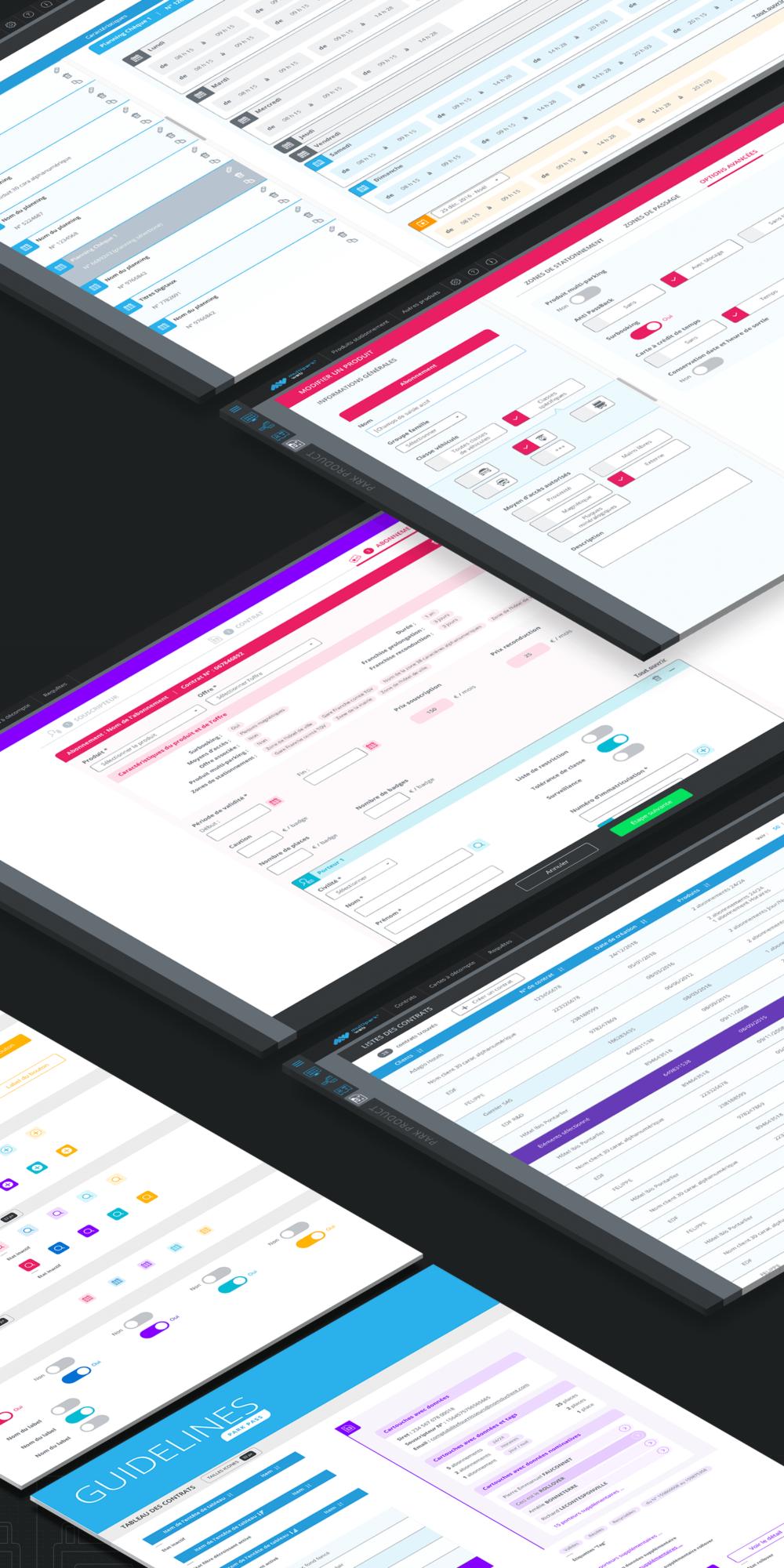 Design des interfaces des applications métiers pour Orbility