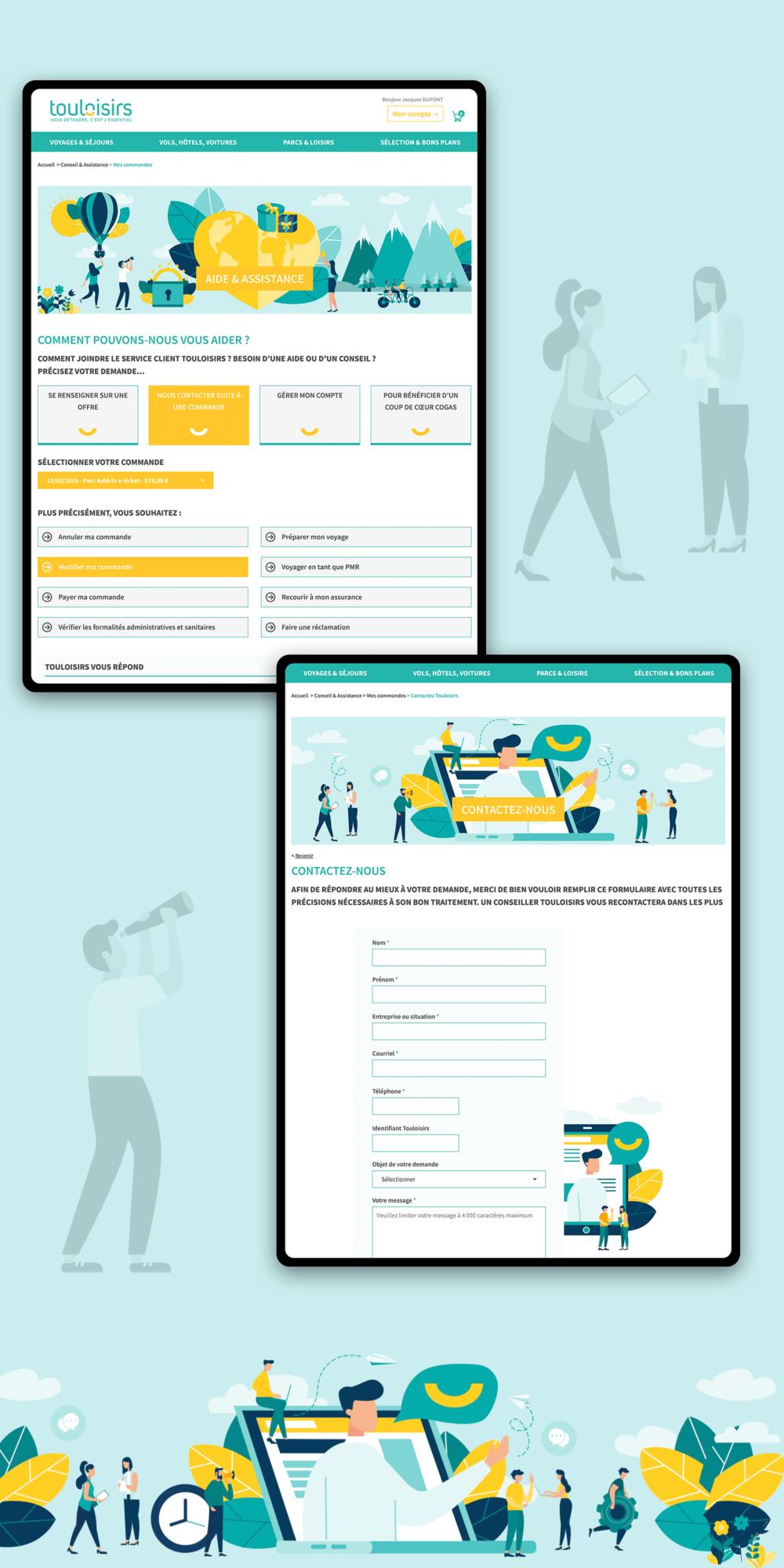 Design (UX & UI) des pages d