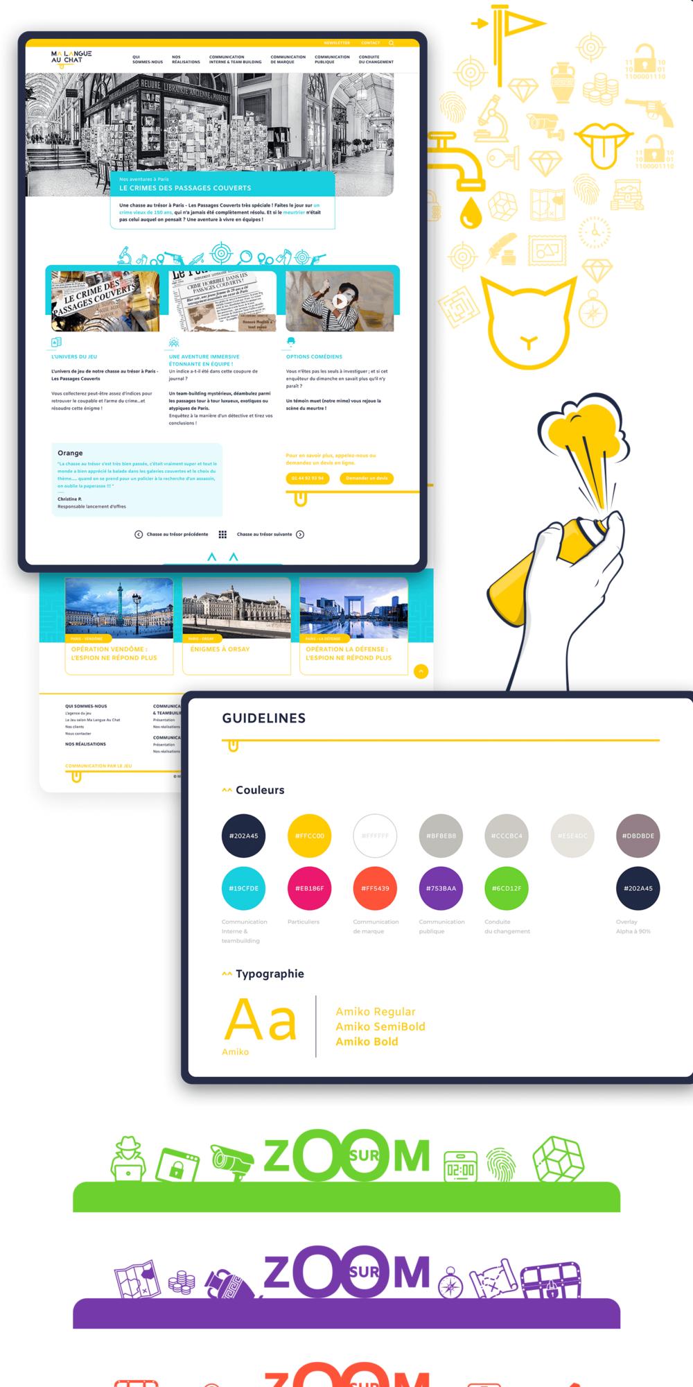 Design du site internet pour Ma Langue Au Chat