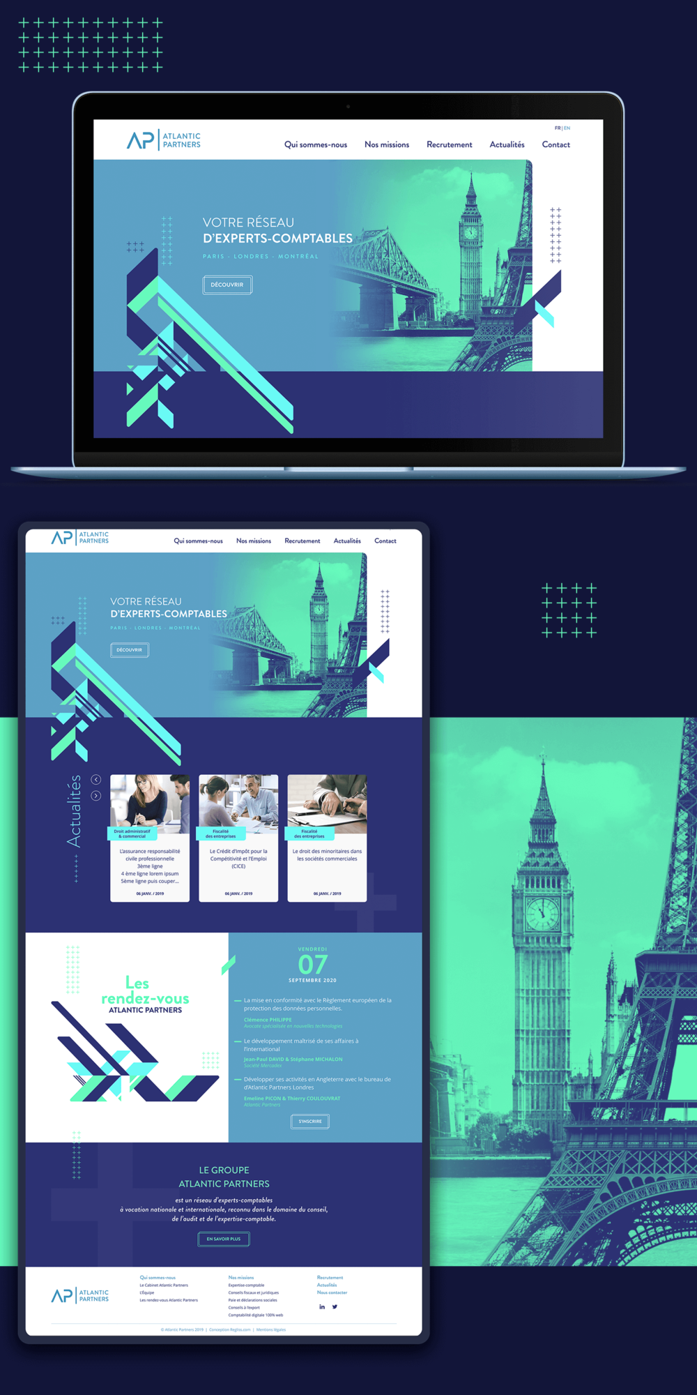 Design du site internet Atlantic Partners